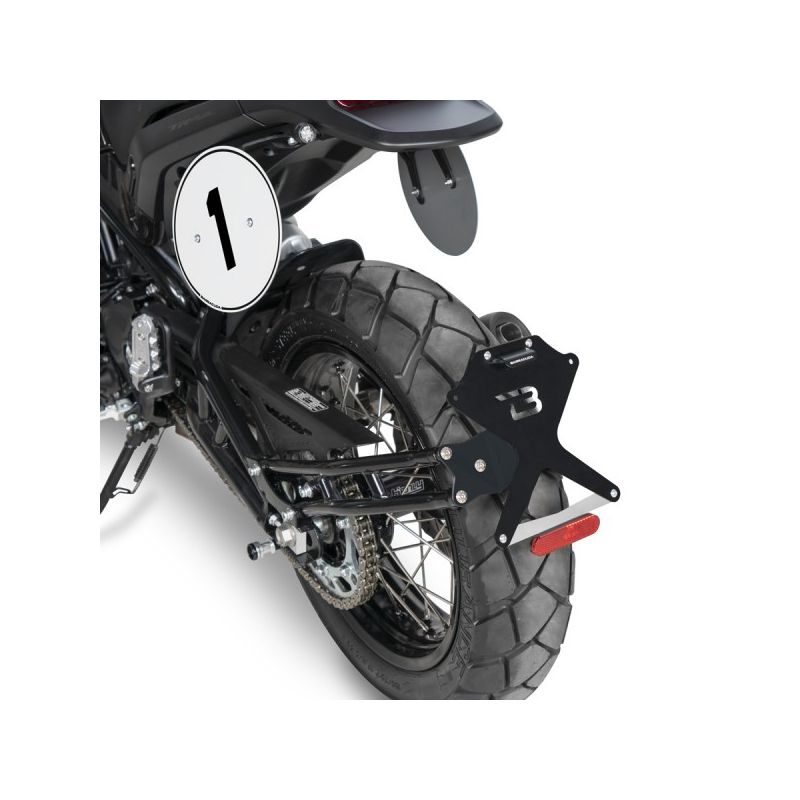 SUPPORT DE PLAQUE Benelli Leoncino SIDE NAKED BARRACUDA